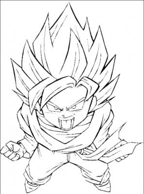 раскраски Dragon Ball Z