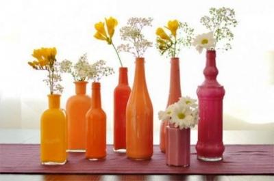 Порадуем мамочку настоящей вазой из стеклянной бутылки