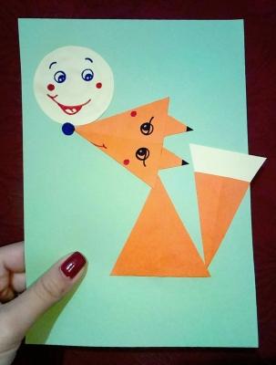 легкая аппликация для детей из бумаги