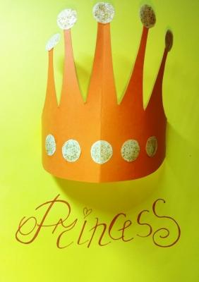 Открытка из цветной бумаги, для настоящих принцесс!