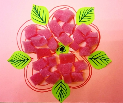 Цветок из мягкой губки, сделанный своими руками, будет радовать нас каждый день!