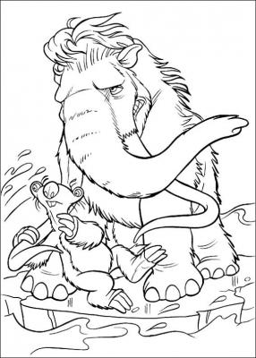 Совсем разные животные, но цель у всех одна - выжить во время наступления ледникового периода. Чем всё закончилось мы узнаем с помощью раскрасок по мотивам этого мультфильма. Скачать всю подборку, одним файлом, вы сможете прямо сейчас.