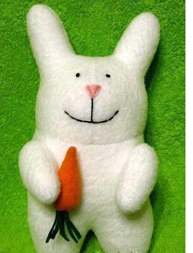 мягкая игрушка своими руками кролик с морковкой
