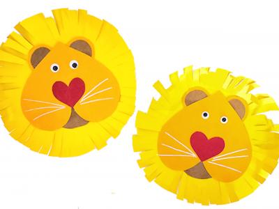 поделка лев из цветного картона