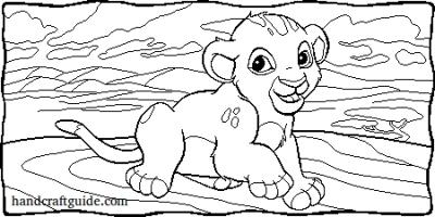 разукрашки Король Лев