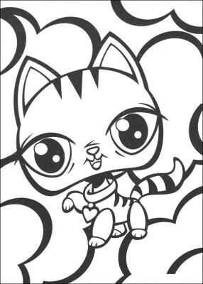 раскраски для детей милые животные