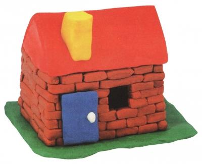 домик из пластилина