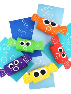 Объёмная поделка рыбка из бумаги своими руками для детей