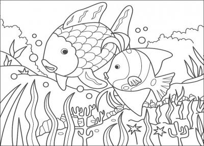 раскраски для детей рыбки