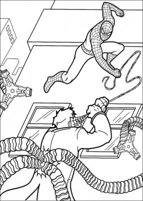 spiderman раскраски