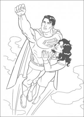 раскраски супермен для детей 6 лет