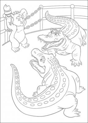 детские раскраски животные