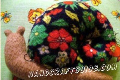 Мягкая игрушка Улитка которую можно сделать своими руками